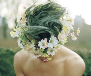 boy, flowers, and hair image