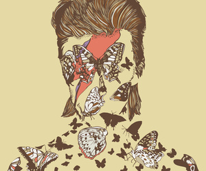 bowie, butterfly, and david bowie image