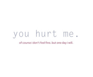 typography and hurt image