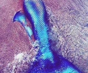 mermaid, beach, and mermaid tail image