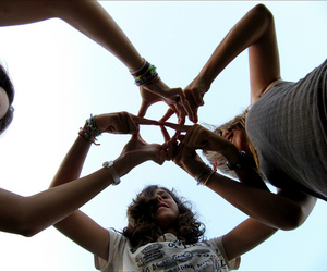 peace, ☮, and friends image