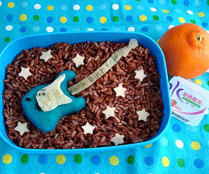 food and guitar image