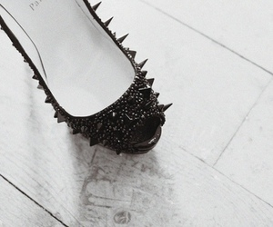 black, louboutin, and shoes image