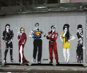 Amy Winehouse, art, and chaplin image