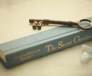 book, key, and The Secret Garden image