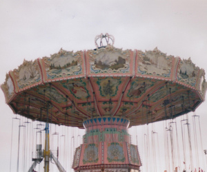carousel, photography, and pink image