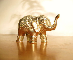 baby, brass, and elephant image