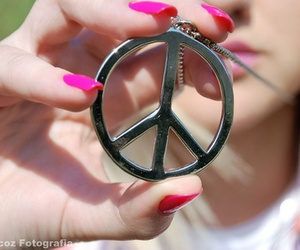 peace, pink, and ☮ image