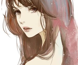 anime, beautiful, and brown image