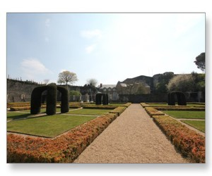 Angers, fortress, and garden image