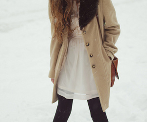 snow, girl, and fashion image