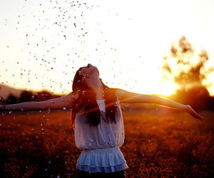 girl, sun, and happy image