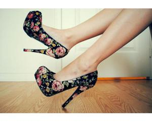 shoes, flowers, and girly image