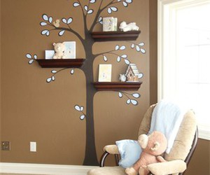 tree, room, and shelf image