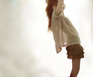 girl, skinny, and skirt image