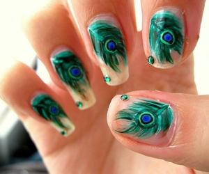 nails and peacock image