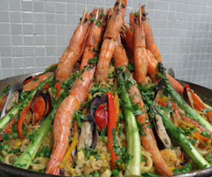 recipe, paella, and paeja image