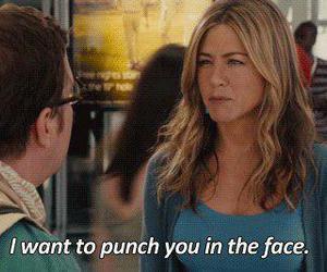 punch, Jennifer Aniston, and funny image