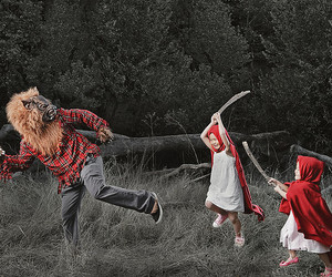 wolf and kids image