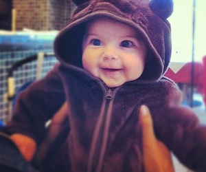 baby, bear, and smile image