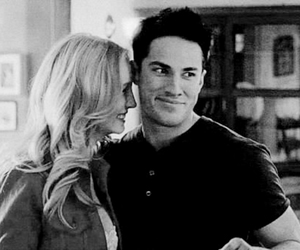 caroline forbes, tyler lockwood, and the vampire diaries image