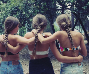 hair style, friends, and frinds image