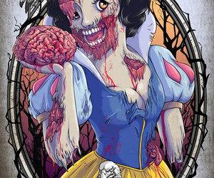 branca de neve, zombie, and zom image