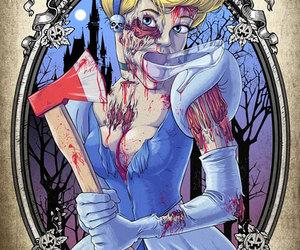 cinderella, girl, and zombie image