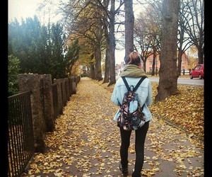 autumn, backpack, and bag image