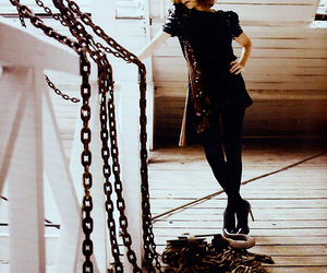 black, chains, and isabelle huppert image