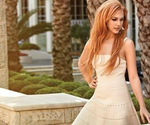 beautiful, redhead, and dress image