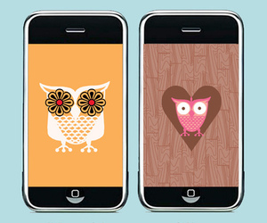 owl, pink, and love image