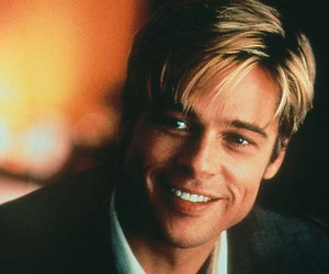 black suit, meet joe black, and brad pitt image