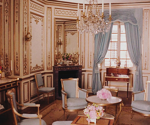 marie antoinette, rococo, and interior image
