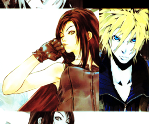 artwork, cloud strife, and couple image