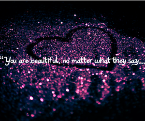 heart, glitter, and purple image