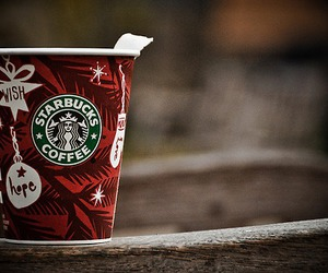 christmas, starbucks, and photography image