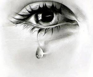 artwork, eye, and tears image