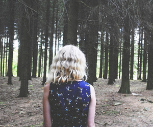 back, dress, and forest image