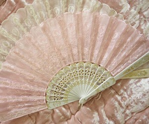 pink, fan, and vintage image