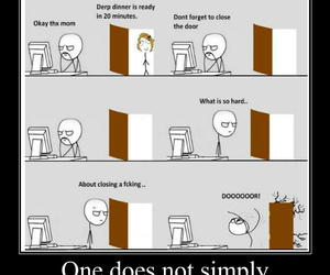 derp, memes, and close a door image