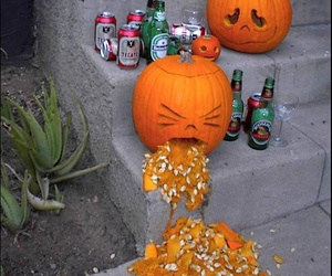 pumpkin, Halloween, and funny image