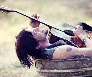 guitar, laugh, and Jackson Rathbone image