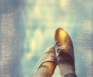 shoes, polaroid, and feet image