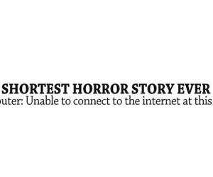 connect, horror, and text image
