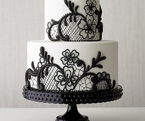 cake, white, and black image