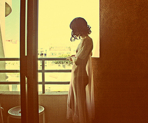 balcony, woman, and momentary image