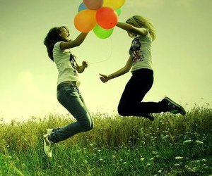 friends and balloons image