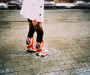 boots, rain, and vintage image