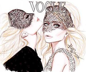 vogue, drawing, and olsen image